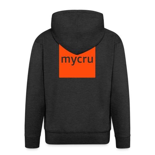 mycru logo - Men's Premium Hooded Jacket