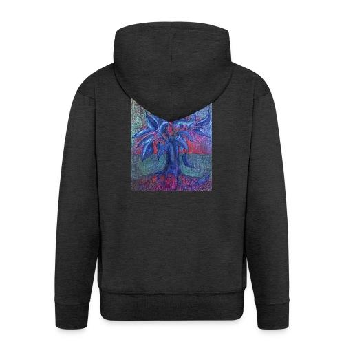 DrzewoKwiat - Rozpinana bluza męska z kapturem Premium