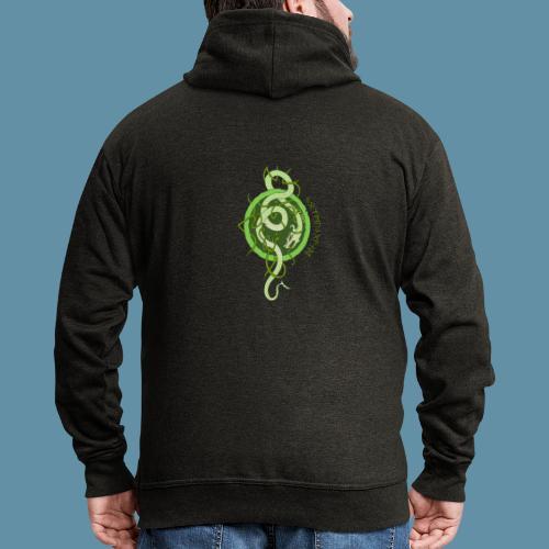 Jormungand logo png - Felpa con zip Premium da uomo
