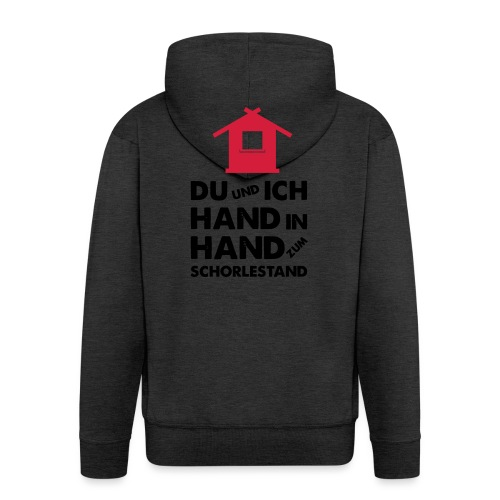 Hand in Hand zum Schorlestand / Gruppenshirt - Männer Premium Kapuzenjacke