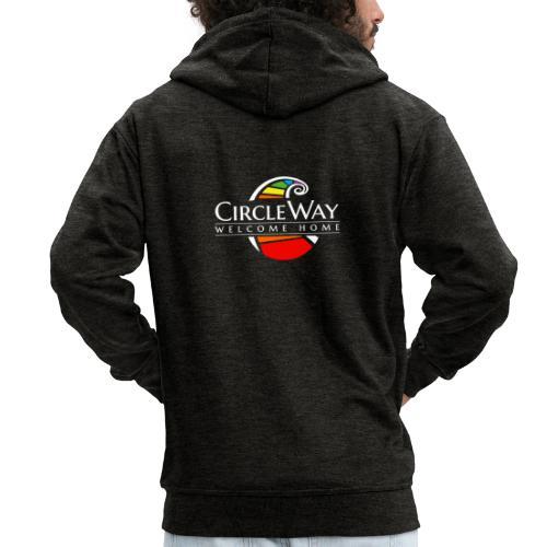 Circleway Welcome Home Logo – weiß - Männer Premium Kapuzenjacke