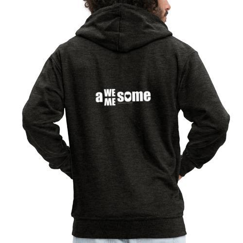 awesome we+me shirt – weiß - Männer Premium Kapuzenjacke