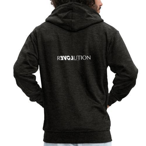 ReLOVEution Shirt – weiß - Männer Premium Kapuzenjacke