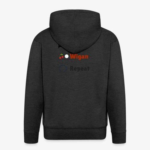 Eat Sleep Wigan Repeat - Men's Premium Hooded Jacket