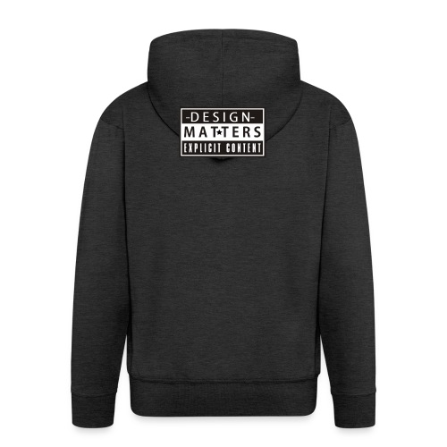 Design&Matters Explicit Content - Men's Premium Hooded Jacket