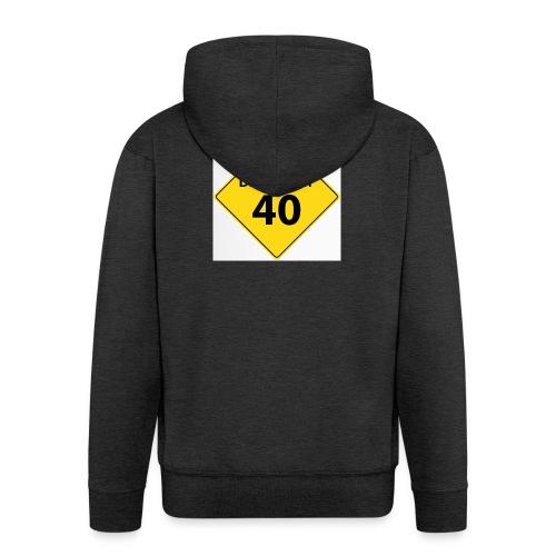 motive shield birthday 40 40 - Premium-Luvjacka herr