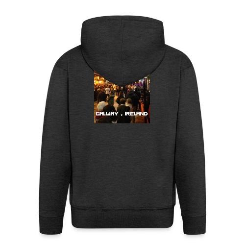 GALWAY IRELAND SHOP STREET - Men's Premium Hooded Jacket