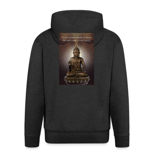 Peace from Within - Men's Premium Hooded Jacket