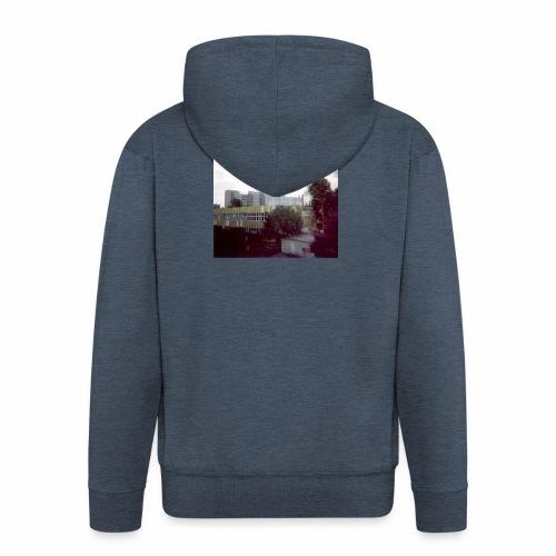 Original Artist design * Blocks - Men's Premium Hooded Jacket
