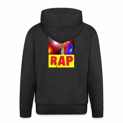 Rap, Trump! - Felpa con zip Premium da uomo