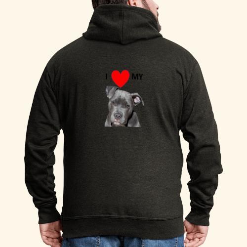 I love my Pitbull Hund Hunde Herrchen Frauchen - Männer Premium Kapuzenjacke