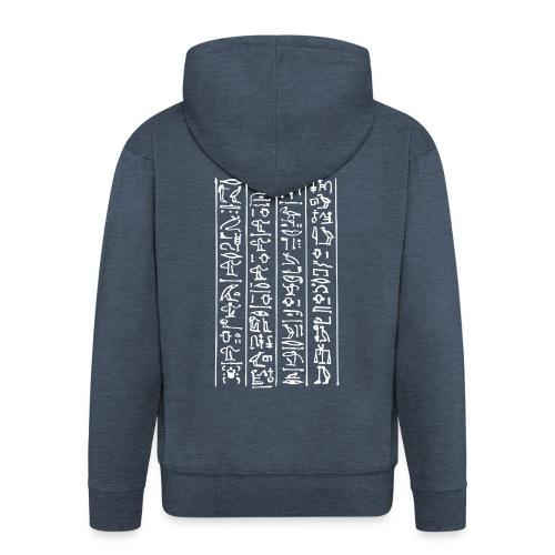 Hieroglyphen - Männer Premium Kapuzenjacke