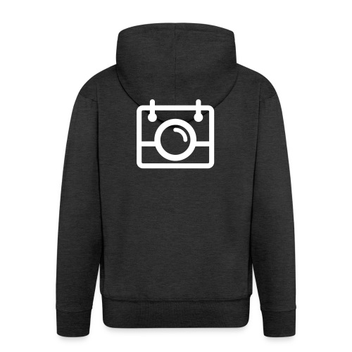 White AYWMC Camera logo - Men's Premium Hooded Jacket