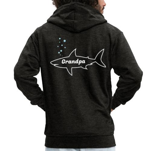 Grandpa shark - Fathers day gift - matching outfit - Männer Premium Kapuzenjacke