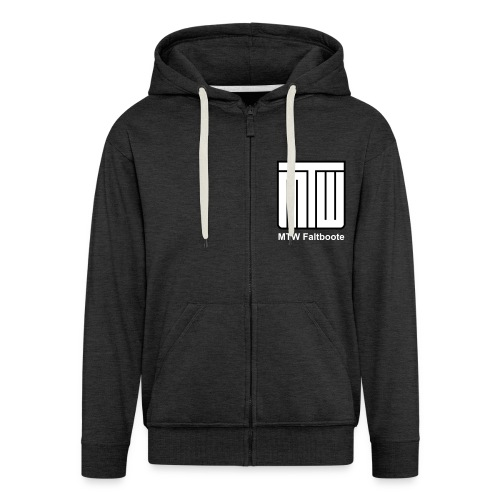 mtw logo weisser text spreadshirt - Männer Premium Kapuzenjacke