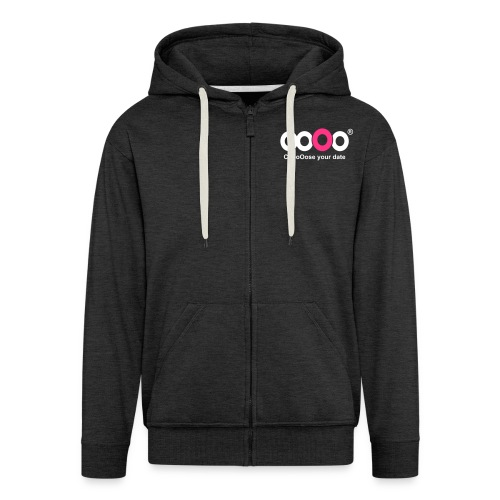ooOo logo dark - Men's Premium Hooded Jacket