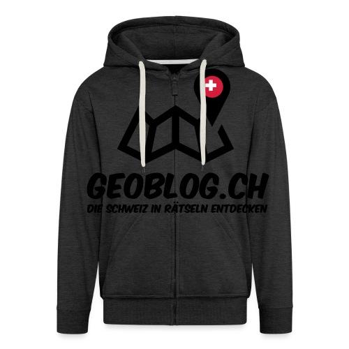 Logo+Schriftzug-hoch - Männer Premium Kapuzenjacke