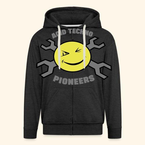 ACID TECHNO PIONEERS - SILVER EDITION - Men's Premium Hooded Jacket