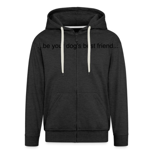GoodBad svart CMYK (1) - Men's Premium Hooded Jacket
