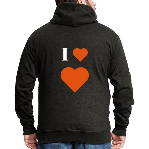I Heart heart - Men's Premium Hooded Jacket