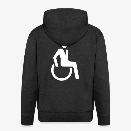 Sjieke rolstoel gebruiker symbool - Mannenjack Premium met capuchon