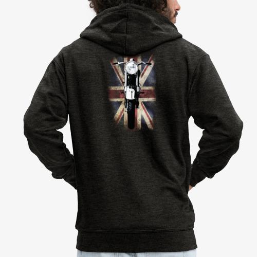 Vintage Motor Cycle BSA feature patjila - Men's Premium Hooded Jacket