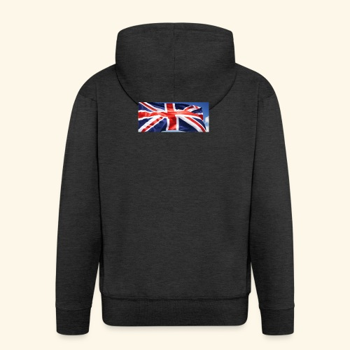 UK flag - Men's Premium Hooded Jacket