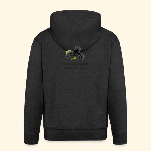 Picking blackberries - Men's Premium Hooded Jacket