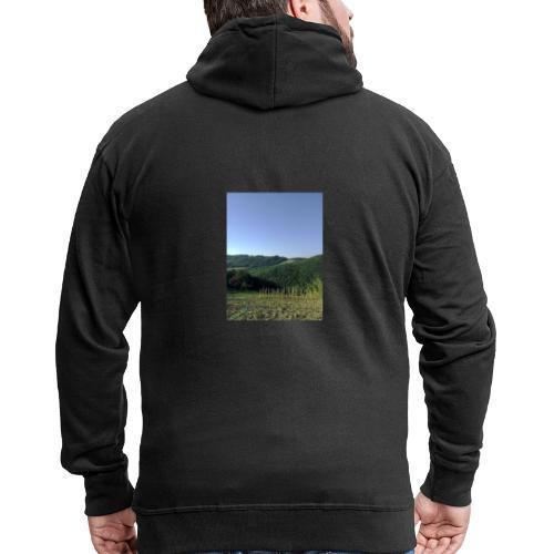 Panorama - Felpa con zip Premium da uomo