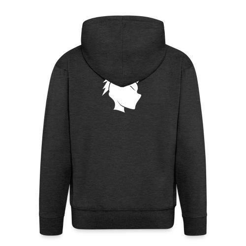 Cally Mohawk Logo - Men's Premium Hooded Jacket