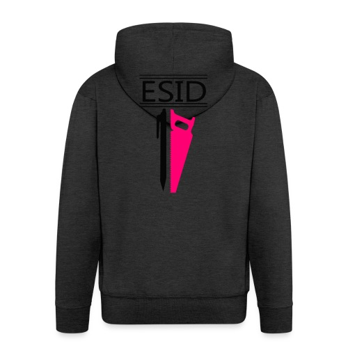 ESID Zwart-roze - Mannenjack Premium met capuchon