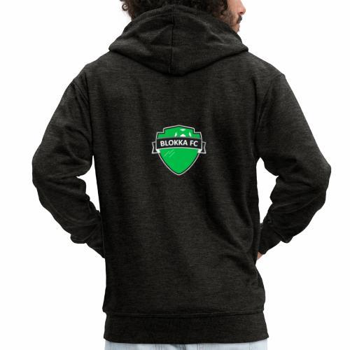 Blokka FC - Grønn logo - Premium Hettejakke for menn