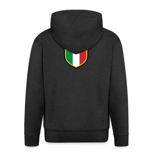 SCUDETTO ITALIA CALCIO - Felpa con zip Premium da uomo