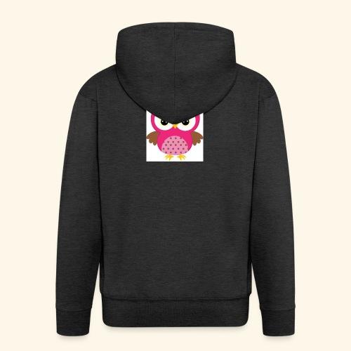 Girly Owl - Men's Premium Hooded Jacket