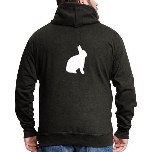 T-shirt personnalisable avec votre texte (lapin) - Veste à capuche Premium Homme