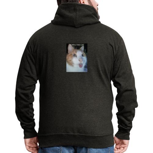 TOFFO THE CAT - Miesten premium vetoketjullinen huppari