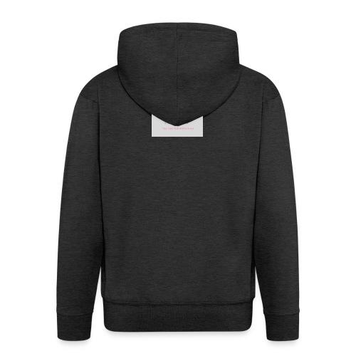 Antoinette's Luxury Cupcakes Grey Logo - Men's Premium Hooded Jacket