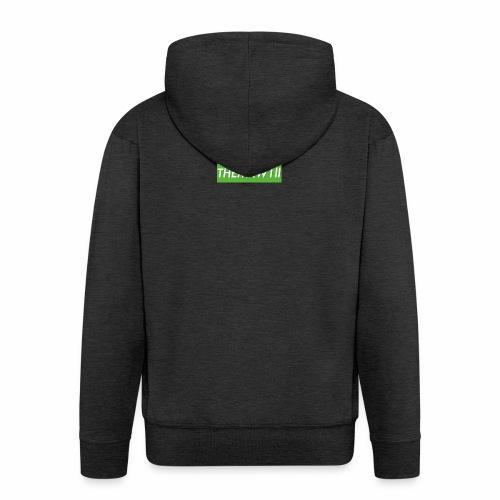 OG EXCLUSIVE W1ll logo - Men's Premium Hooded Jacket
