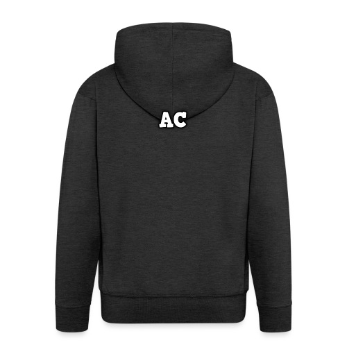 AC blur logo - Men's Premium Hooded Jacket