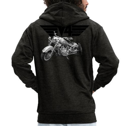 V4 Motorcycles black Wings - Männer Premium Kapuzenjacke