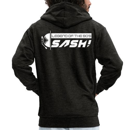 DJ SASH! Turntable Logo - Men's Premium Hooded Jacket