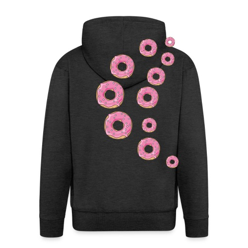 Pinker Streusel Donut - Männer Premium Kapuzenjacke