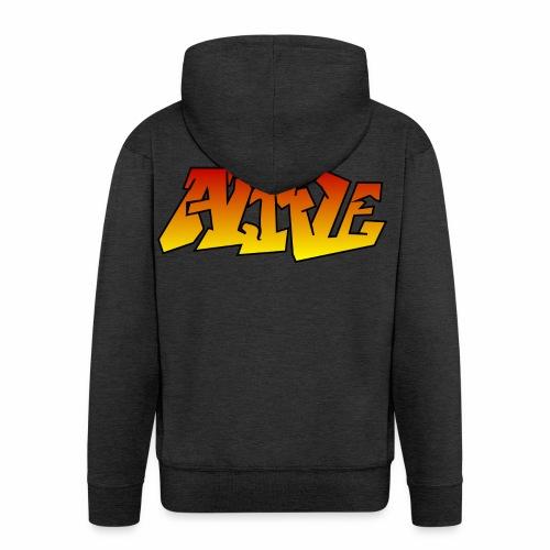 ALIVE CGI - Men's Premium Hooded Jacket
