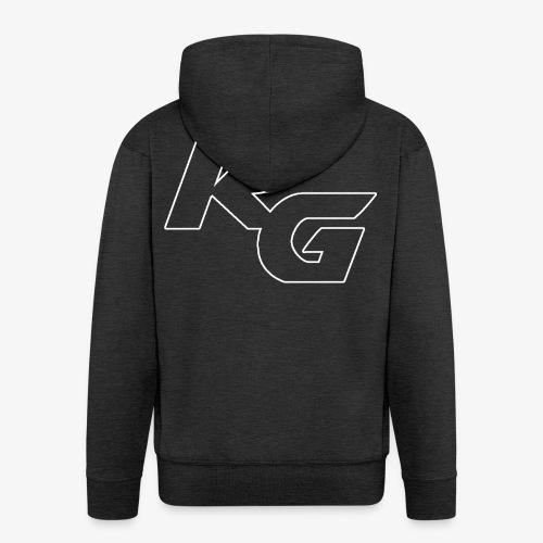 Logo RG Minimal - Felpa con zip Premium da uomo