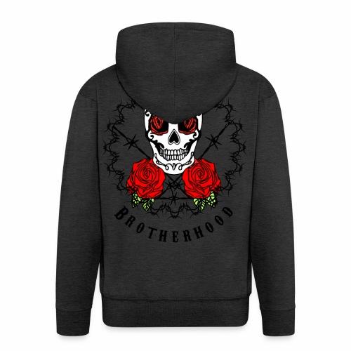 Dead Roses 2nd Logo - Men's Premium Hooded Jacket