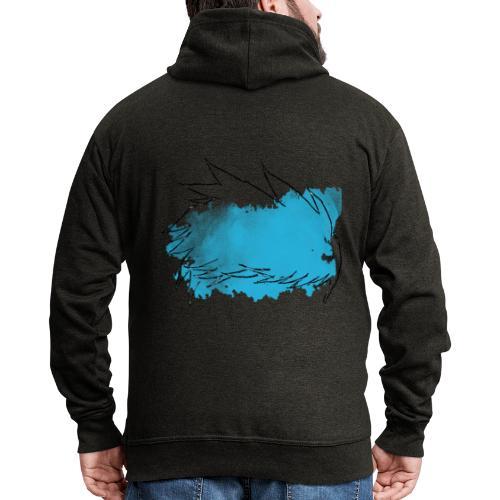 Blue Splat Original - Men's Premium Hooded Jacket
