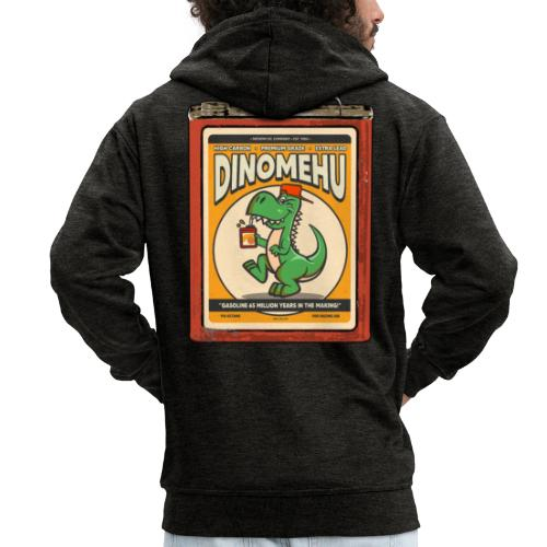 Dinomehu -kanisteri - Miesten premium vetoketjullinen huppari