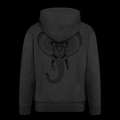 Elephant stylisé - Veste à capuche Premium Homme
