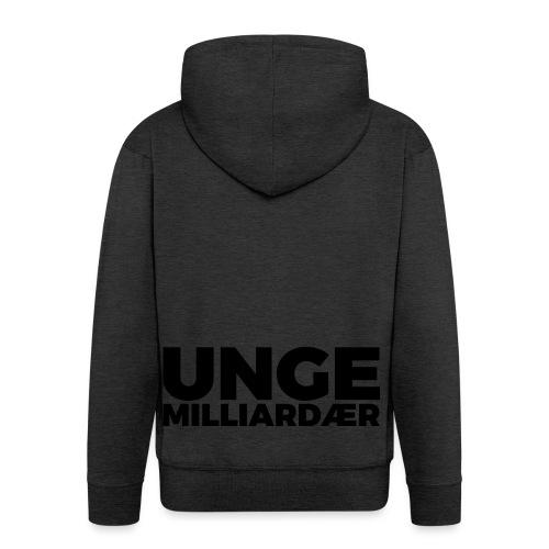 unge-mill-logo-svart - Premium Hettejakke for menn