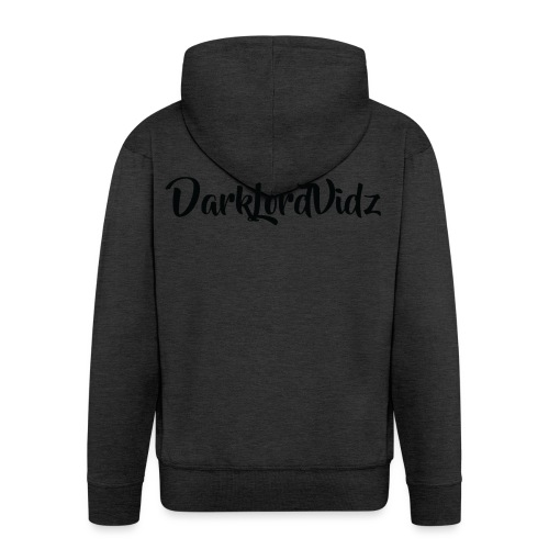 DarklordVidz Black Logo - Men's Premium Hooded Jacket